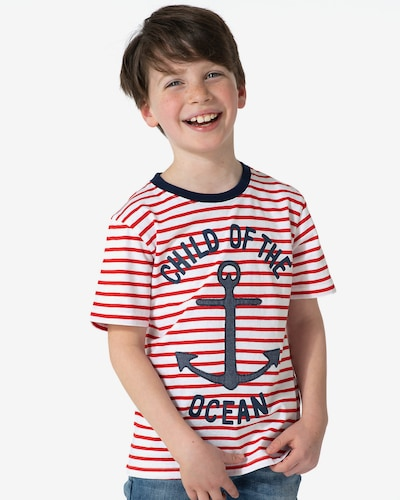 myToys-COLLECTION T-Shirt in marine / rot / weiß: Frontalansicht