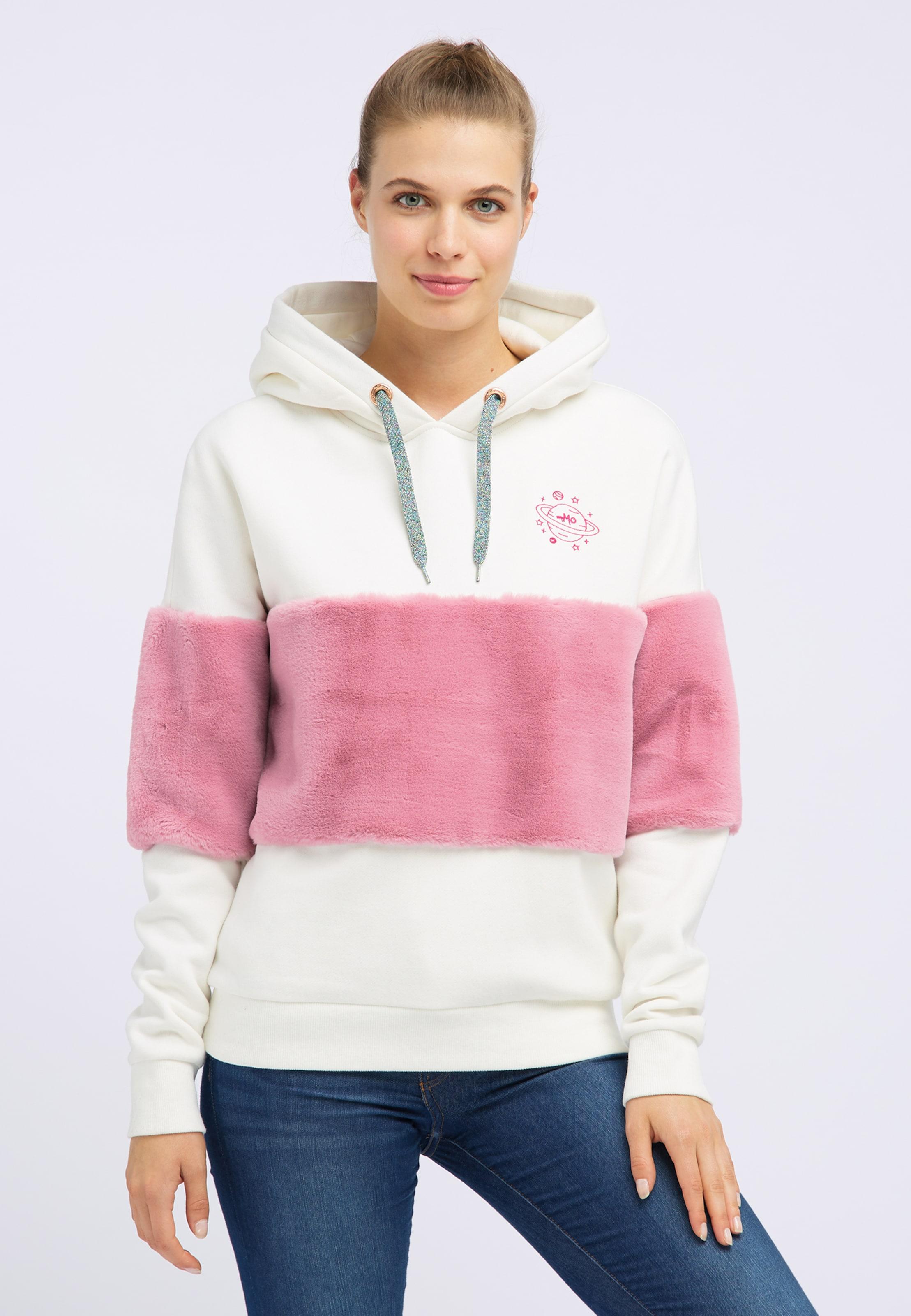 In Mymo Mymo Sweatshirt RosaWeiß Sweatshirt nN08wm