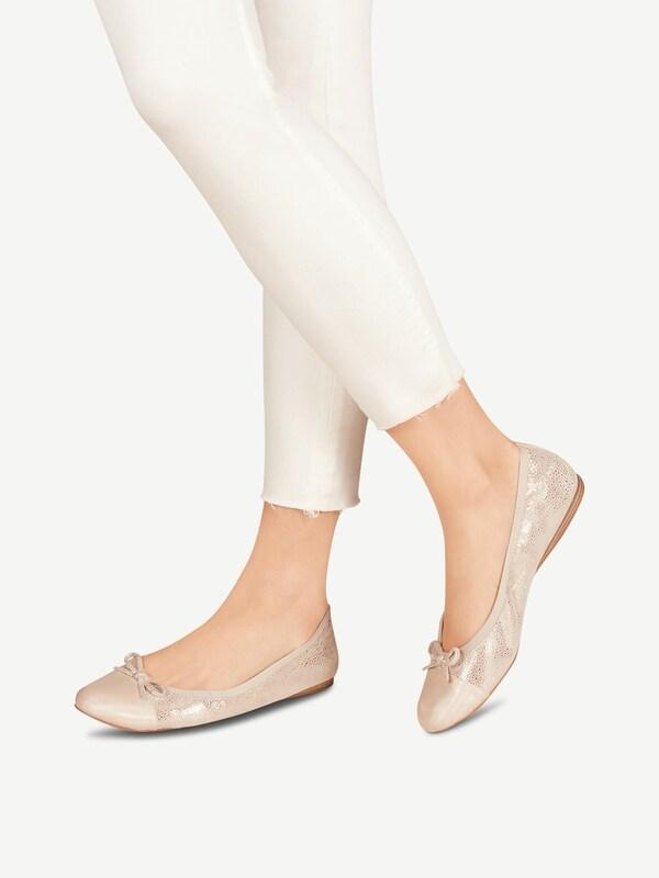 TAMARIS Ballerina in beige silber | ABOUT YOU