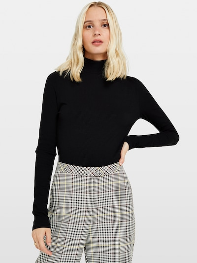 Miss Selfridge Shirt 'LS RIB TURTLE NECK' in schwarz, Modelansicht