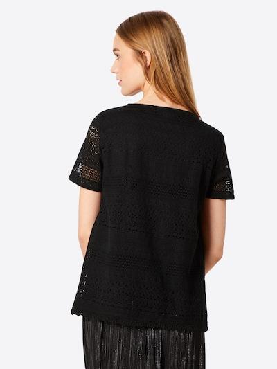 VERO MODA Spitzenshirt 'HONEY' in schwarz: Rückansicht