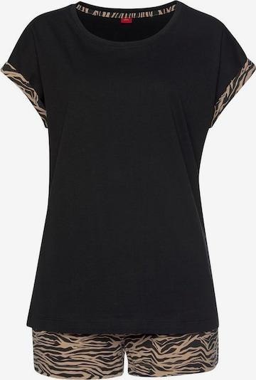 s.Oliver Pyjama in beige / schwarz, Produktansicht