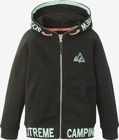 TOM TAILOR Strick & Sweatshirts Sweatjacke mit Schrift-Print in schwarz, Produktansicht
