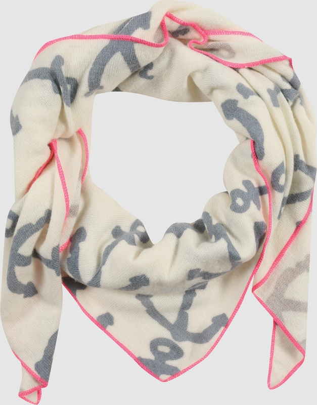 Twin Heart Triangular Cloth With Cashmere Anchor
