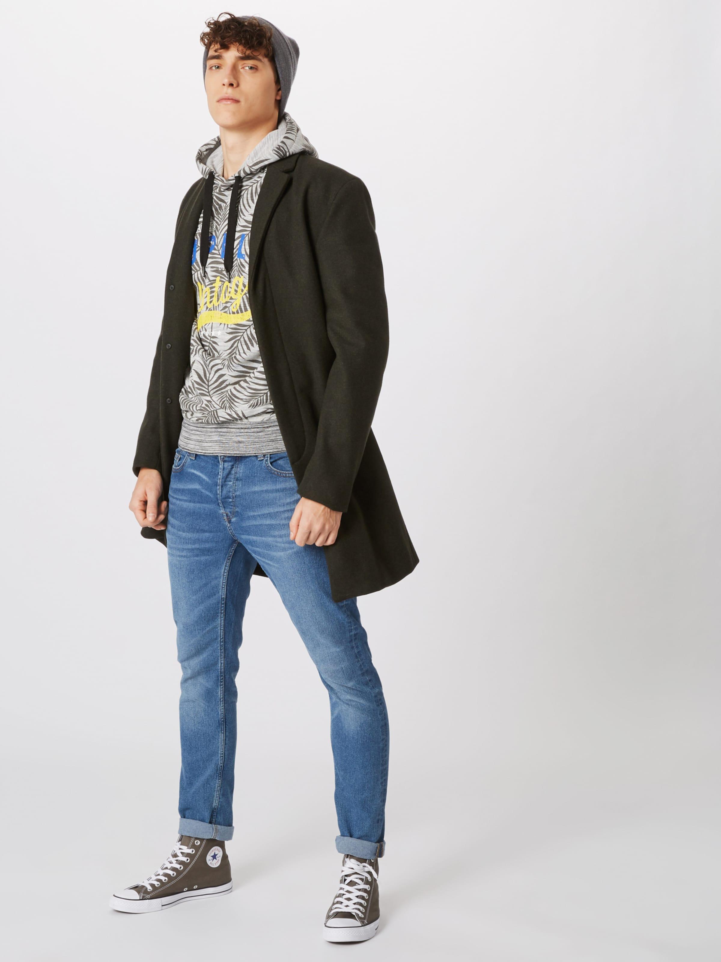 Schwarz Sweatshirt solid 'sweatBelton' In NeongelbGrau USVpzM