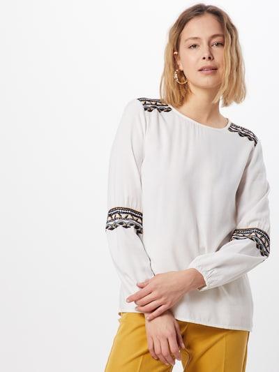 Bluză 'Inga' ABOUT YOU pe maro / alb, Vizualizare model