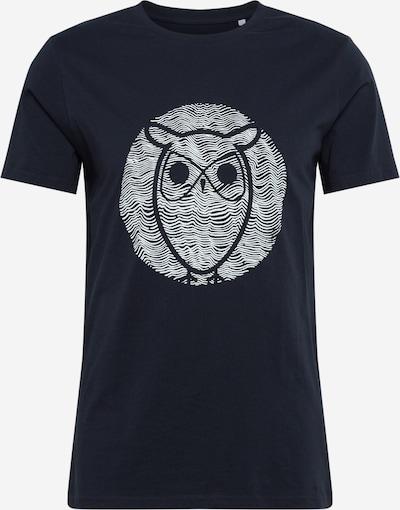 Marškinėliai 'ALDER' iš KnowledgeCotton Apparel , spalva - tamsiai mėlyna / balkšva, Prekių apžvalga