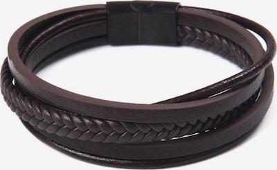 J. Jayz Armband in dunkelbraun / schwarz, Produktansicht