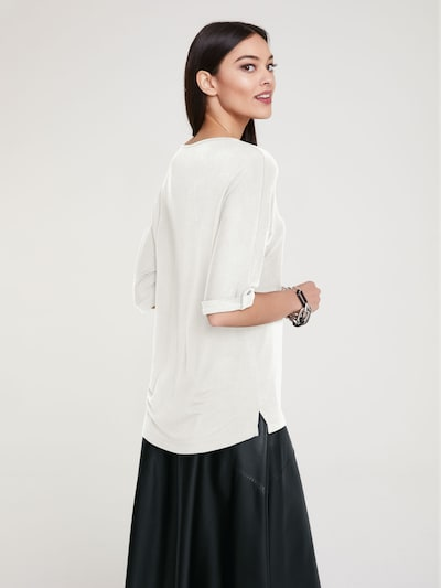 Marškinėliai iš heine , spalva - nebalintos drobės spalva: Vaizdas iš galinės pusės
