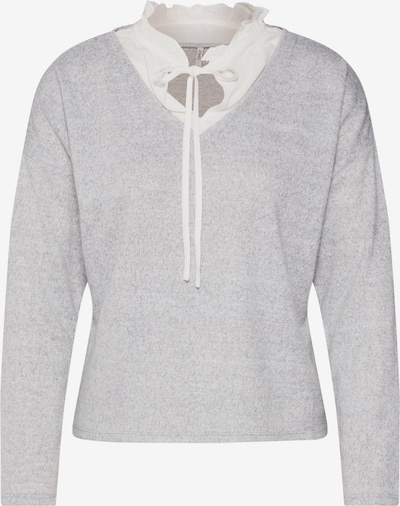 ONLY Pull-over 'ASHLEY' en gris clair / blanc, Vue avec produit