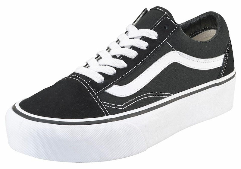 7917e50bbbf VANS Sneakers laag 'Old Skool Platform' in Zwart / Wit | ABOUT YOU