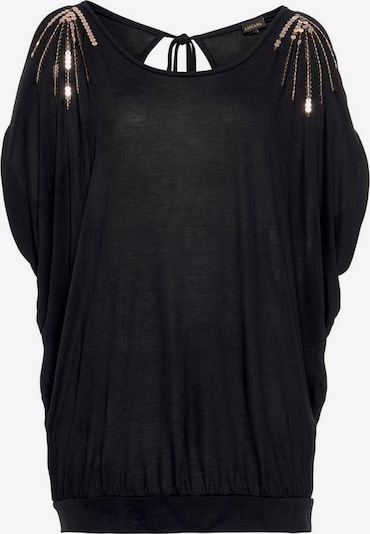 LASCANA Strandshirt in schwarz, Produktansicht