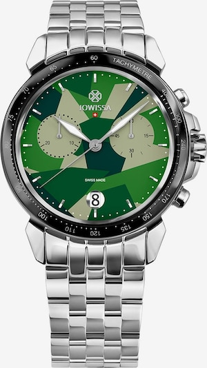 JOWISSA Quarzuhr 'LeWy 15' Swiss Men's Watch in grün / silber, Produktansicht