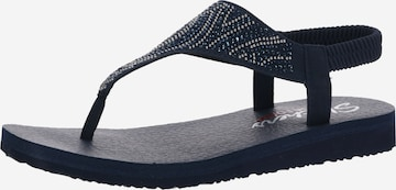 SKECHERS T-Bar Sandals 'MEDITATION NEW MOON' in Blue