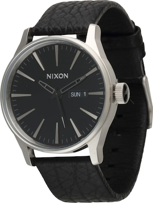 Nixon Analoog horloge 'Sentry Leather'