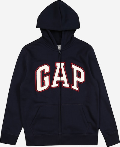 GAP Sweatjacke 'New Arch' in navy / rot / weiß, Produktansicht