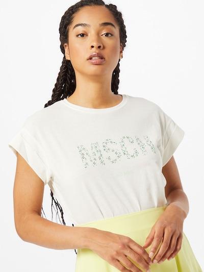 MOSS COPENHAGEN Tričko 'Alva' - zelená / biela: Pohľad spredu