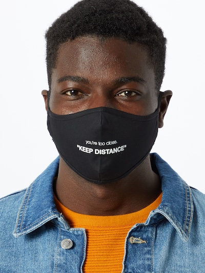 ABOUT YOU Stoffmasken 3er Pack 'Sami' in schwarz: Frontalansicht