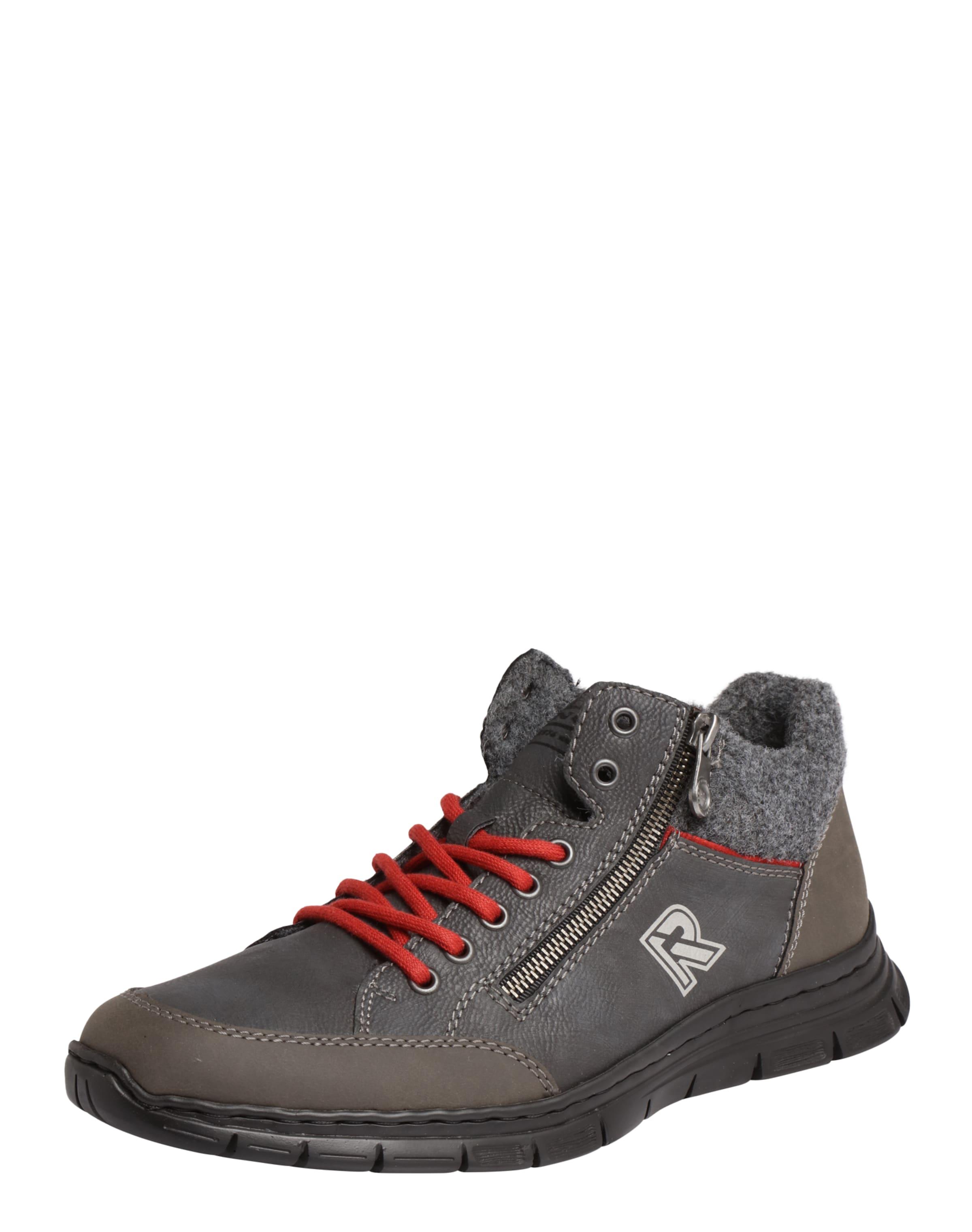 RIEKER Sneaker im Materialmix Verschleißfeste billige Schuhe