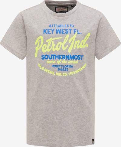 Petrol Industries T-Shirt in blau / gelb / graumeliert, Produktansicht