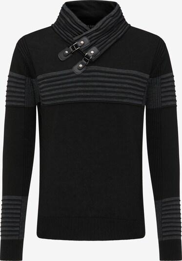 ROCKEASY Trui in de kleur Grijs / Zwart, Productweergave