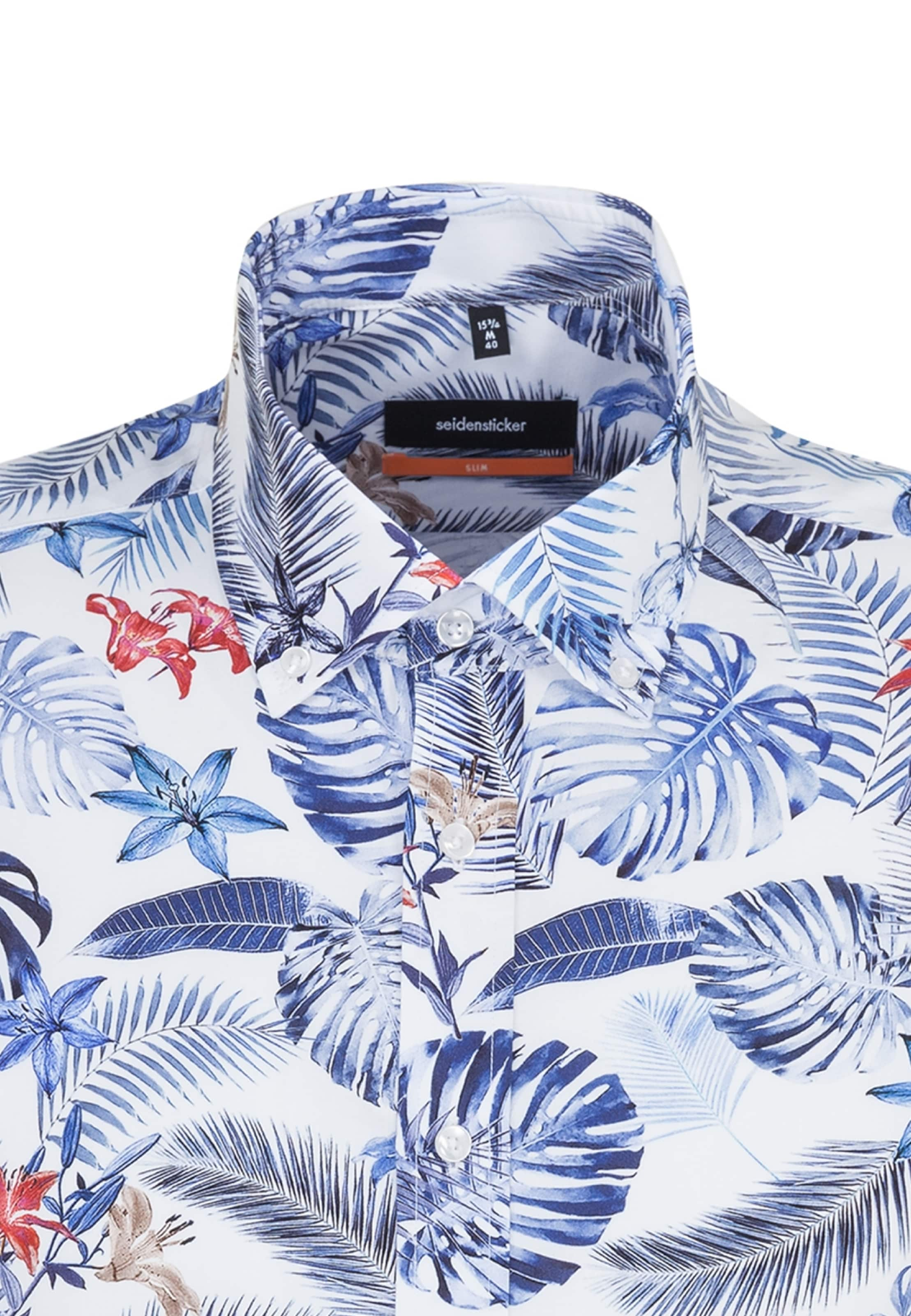 Business Seidensticker In ' Slim Hemd Blau cTKl31JF