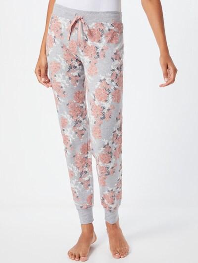 Skiny Hose in grau / rosa / weiß: Frontalansicht