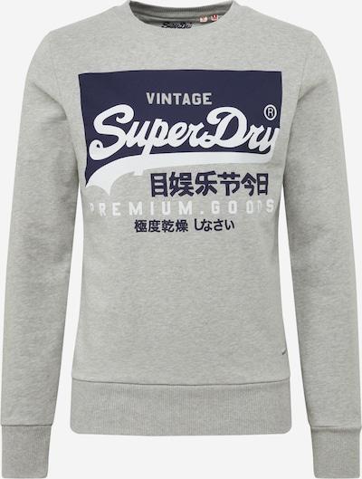 Superdry Sweatshirt 'Vl O Crew' in blau / grau / weiß, Produktansicht