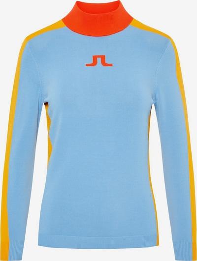 J.Lindeberg Adia Knitted Pullover in blau, Produktansicht