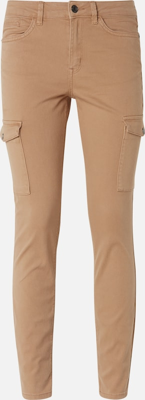 TOM TAILOR DENIM Hosen & Chino Nela Extra Skinny Jeans in Ankle-Länge in beige: Frontalansicht