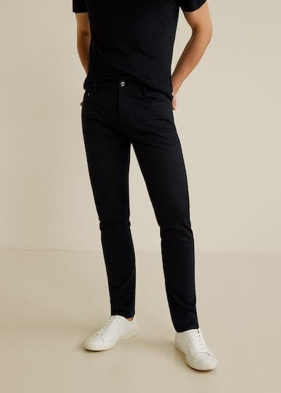 MANGO MAN Hose 'PISA5' in schwarz, Modelansicht