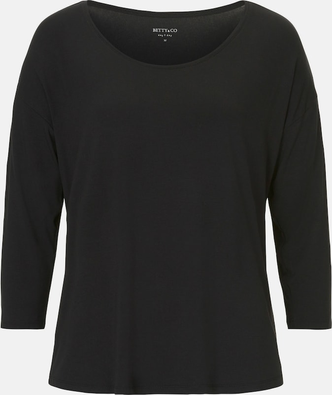 Betty & Co Basic Shirt 'unifarben' in schwarz, Produktansicht