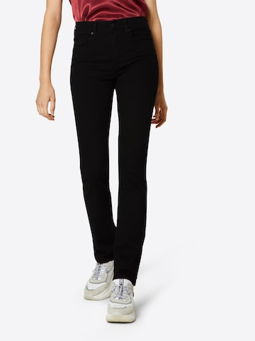 LEVI'S Jeans '724™ HIGH RISE STRAIGHT' in Zwart
