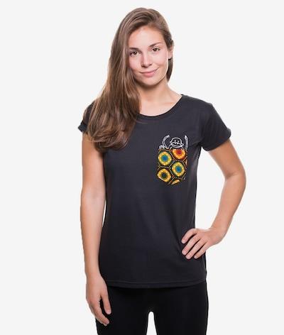 Kipepeo Clothing Accessoires ' T-Shirt Taschentier Taschen-Affe ' in schwarz, Produktansicht