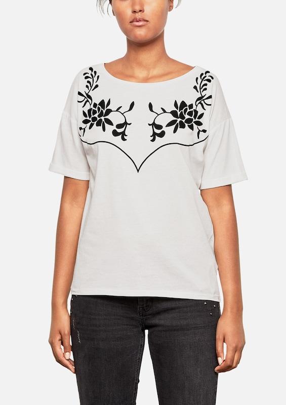 Q By s shirt Schwarz T Designed Weiß CPSwZCqx