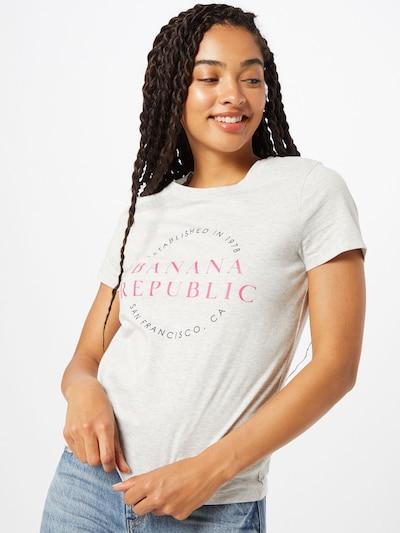 Banana Republic Shirt in de kleur Antraciet / Lichtgrijs / Rosa: Vooraanzicht