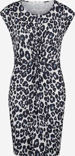 Betty & Co Kleid in dunkelblau / weiß: Frontalansicht
