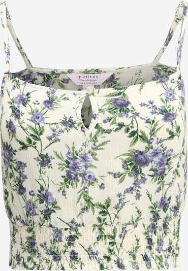 Miss Selfridge (Petite) Top 'GABI' in de kleur Crème / Groen / Violetblauw, Productweergave