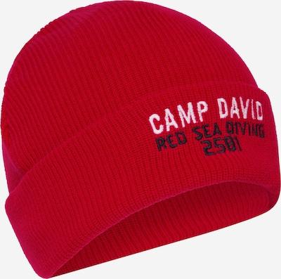 CAMP DAVID Strickmütze mit Logostickerei in rot, Produktansicht