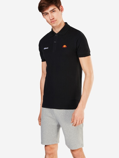 ELLESSE Poloshirt 'MONTURA' in schwarz: Frontalansicht