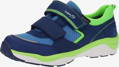 SUPERFIT Baskets en bleu / bleu foncé / vert fluo, Vue avec produit