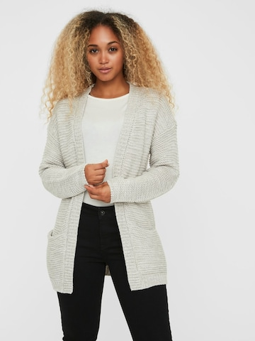 VERO MODA Knit Cardigan in Grey