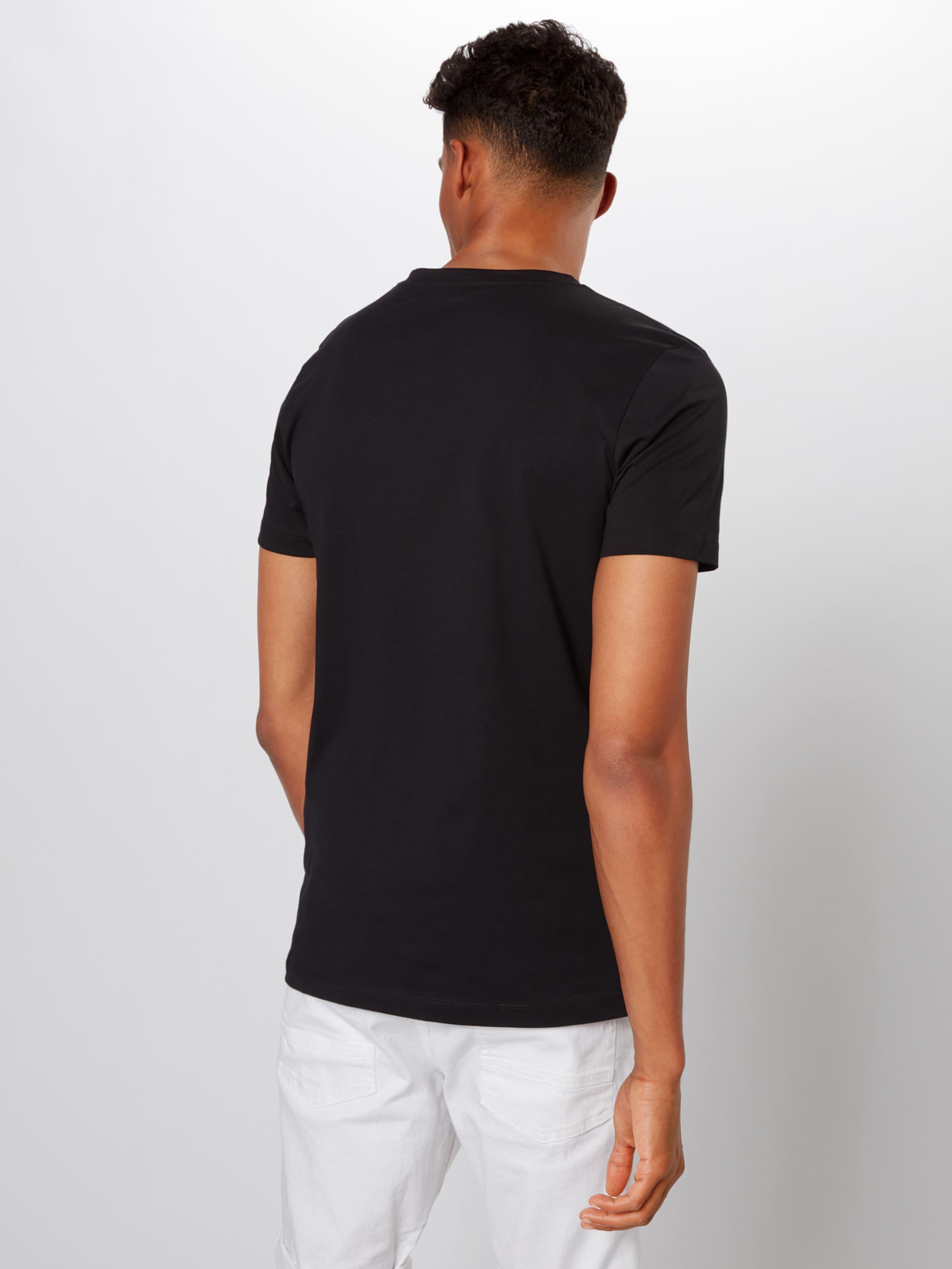 'tee Print' Denim T In Front Tom shirt Tailor Schwarz dxoWrCBeQE