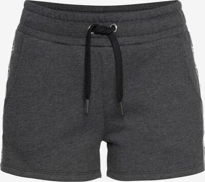 BUFFALO Sweatshorts in schwarzmeliert / weiß, Produktansicht