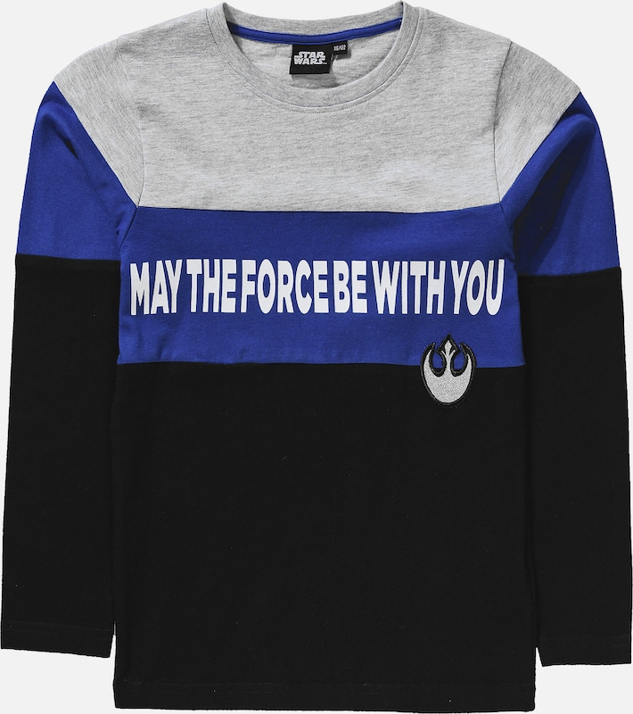 STAR WARS Shirt in royalblau / grau / schwarz, Produktansicht
