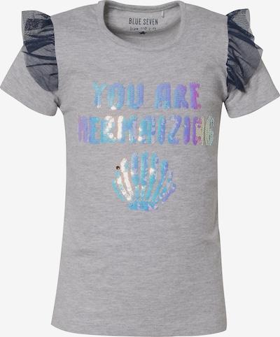 BLUE SEVEN T-Shirt in blau / grau / schwarz, Produktansicht