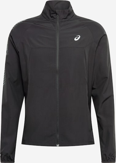 ASICS Sportjas in de kleur Lichtgrijs / Zwart gemêleerd, Productweergave