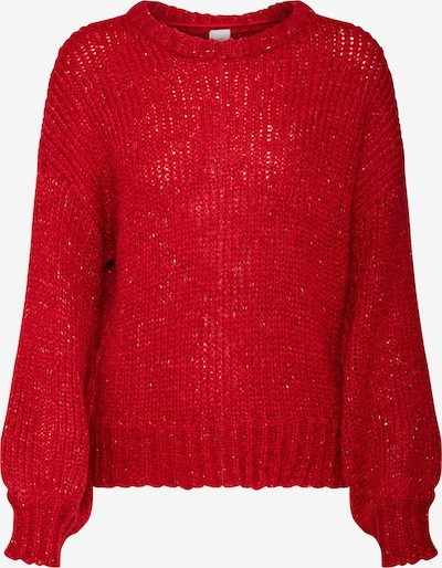 Pulover 'INES LS' ICHI pe roșu: Privire frontală