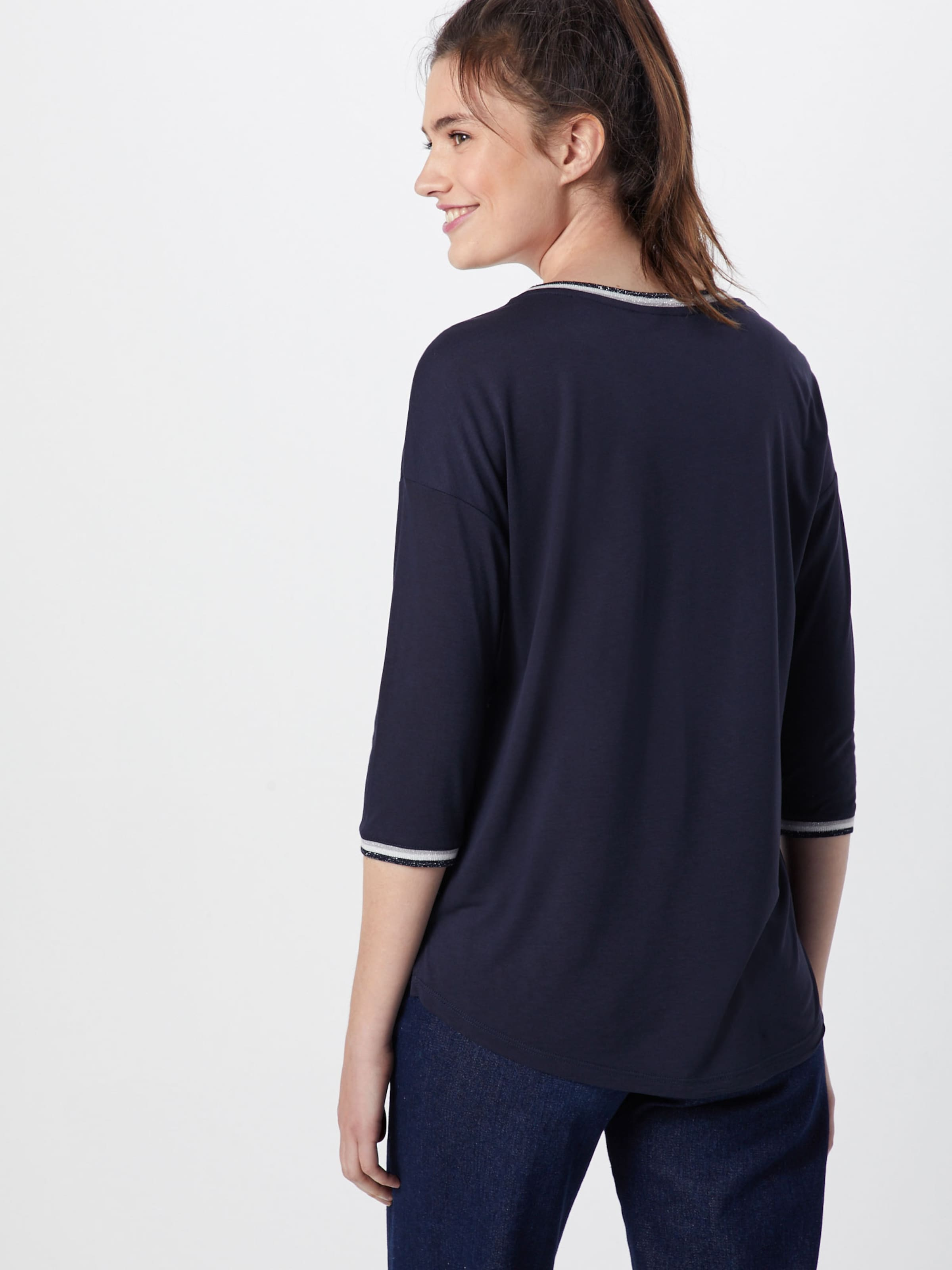 Label shirt MarineMélange En Red oliver T De S Couleurs Bleu ZiTOkXlwuP
