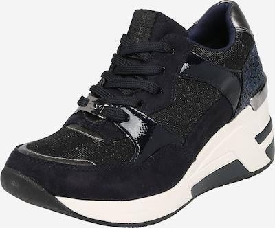 TOM TAILOR Sneaker in blau / schwarz / silber, Produktansicht